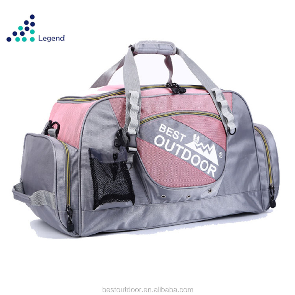 2018 Bestbags large sport gym duffle bag waterproof travel duffle bag with shoes compartment