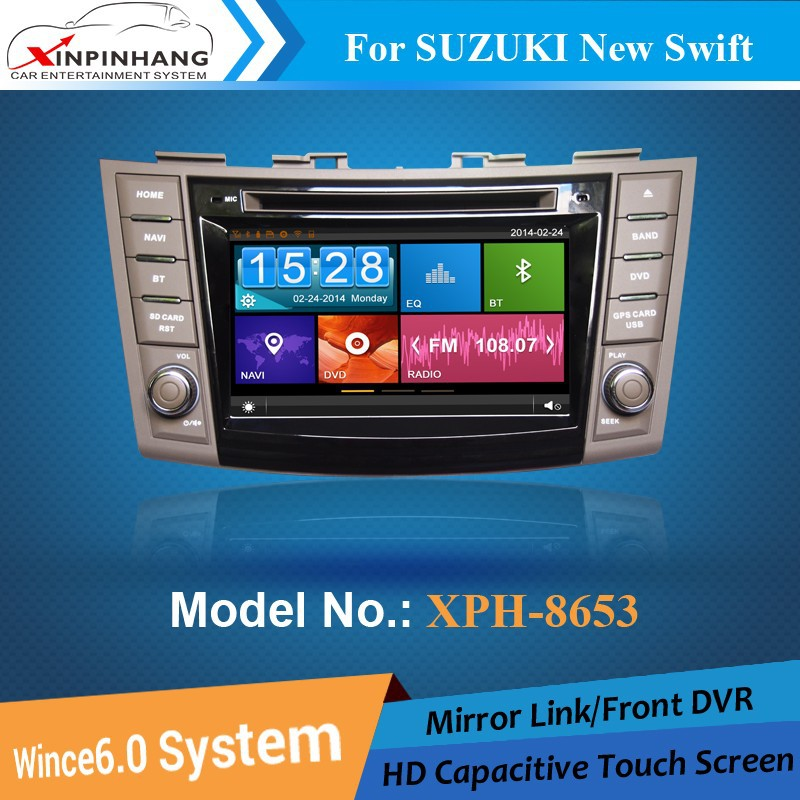 XINPINHANG car dvd gps for SUZUKI New Swift with Mirror link, Phone book, DVR