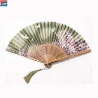 Custom Logo 21cm Polyester Personal Hand Held Fan