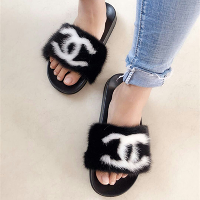 Nice 2017 Genuine Real Fox Fur Raccoon Fur Indoor Outdoor Slippers Sliders Women Fashion Spring Summer Autumn Flat Heel To Enjoy High Reputation At Home And Abroad Apparel Accessories