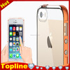 New Popular Multifunctiona LED Flash Light On Call Navy Frame Hard Back Case Cover for iPhone 6 4.7 inch