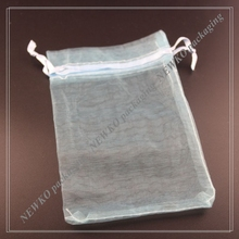 Recyclable and promotional blue organza bags