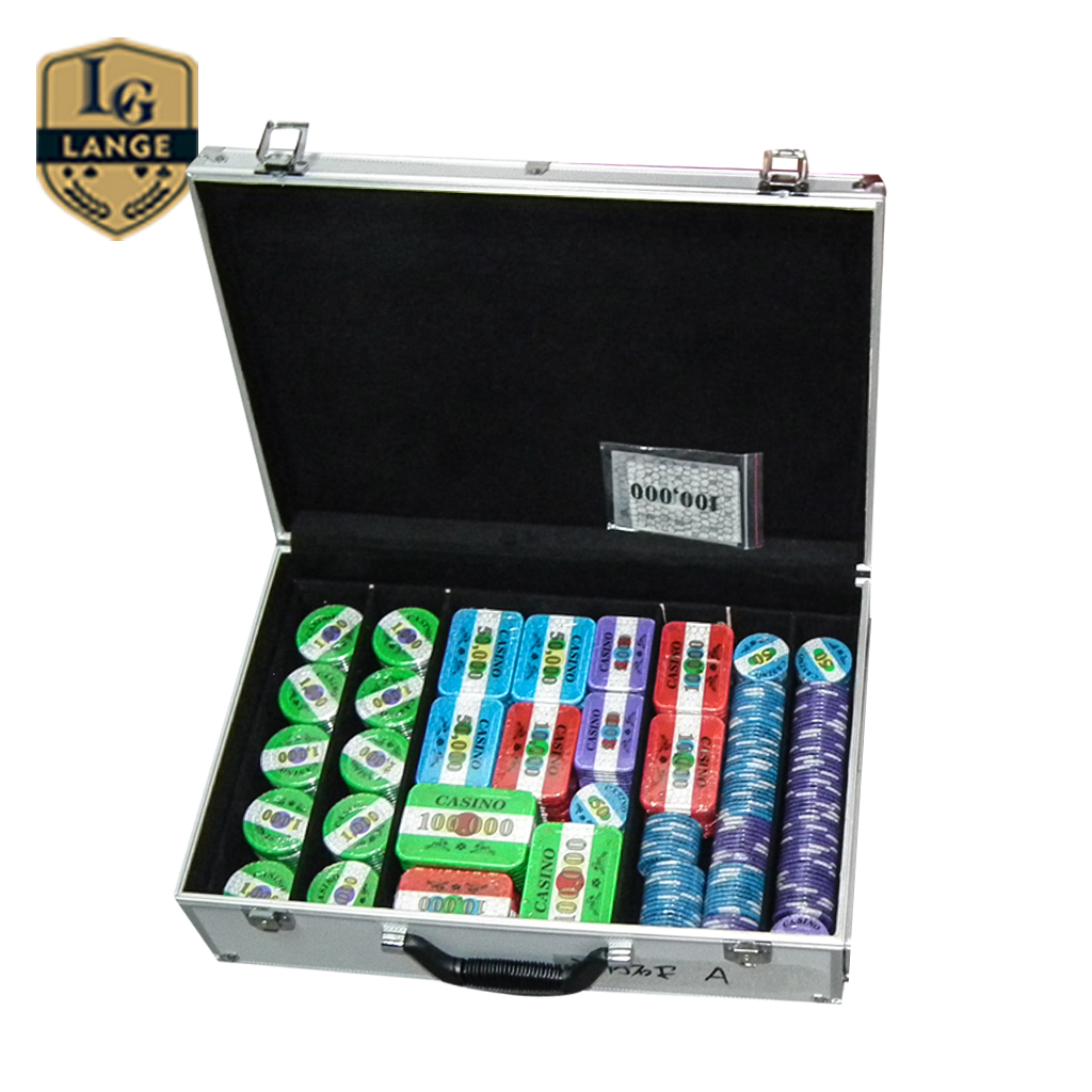 Casino levert twee lagen custom keramische poker chip set