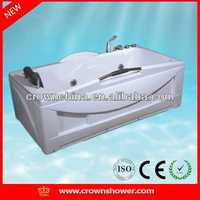 Massage Bathtub,new massage bathtub,water massage bathtub cheap double slipper cast iron bath tub for sale