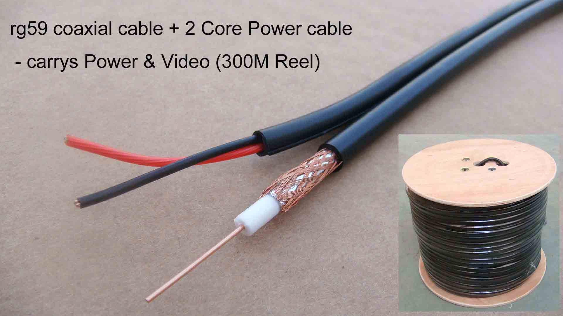305m Rg59 With Power Coaxial Cctv Cable Rg59+2c Siamese Cable - Buy ...