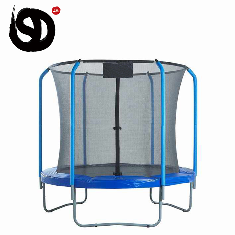Fashion best exercise trampoline with handle 10 ft deck slide