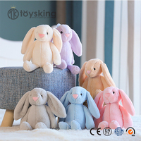 Wholesale Soft Long Fur Rabbit Toys Plush Bunny Doll for Sale from China Factory Free Sample is Available