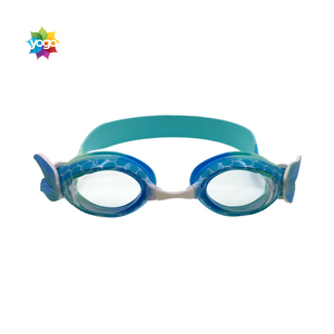Generic Cute Cartoon Children Swimming Goggles PC Lens Waterproof Anti-fog Adjustable Kids Goggles Swim Glasses for Girls Boys