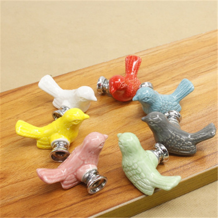 Cute Birds Ceramic Knobs Dresser Knob Drawer Pulls