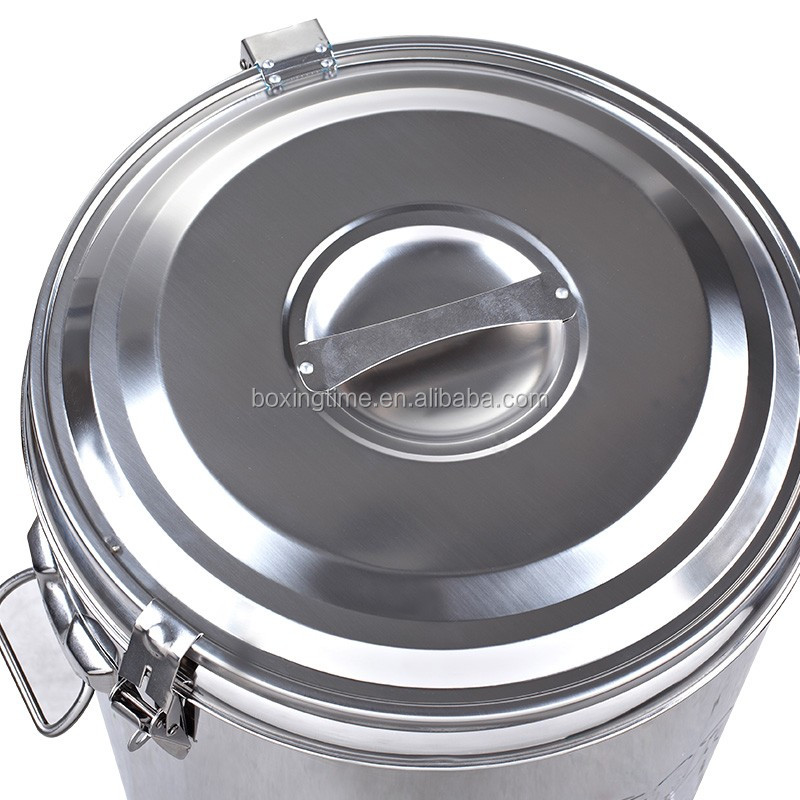 Stainless steel Heat Preservation barrels with lid and tap heat insulation barrel keep warm & cold
