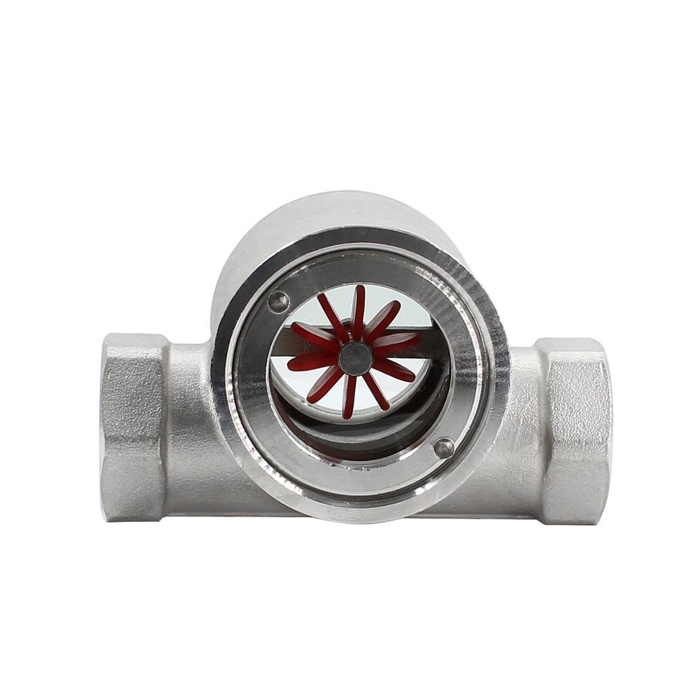 Internal thread impeller turbine water liquid flow indicator controller turbine flow meter