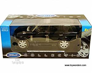 12536bk Welly - Land Rover Range Rover Suv w/ Sunroof (2003, 1:18, Black) 12536 Diecast Car Model Auto Vehicle Die Cast Metal Iron Toy Transport