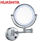 HSY1001 Fashion Wall Mounted Double Side Makeup Magnifying Led Bathroom Mirror