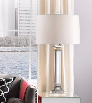 1016 4 french wire style cord a single crystal column modern crystal 1016 4 french wire style cord a single crystal column modern crystal column table lamp aloadofball Choice Image