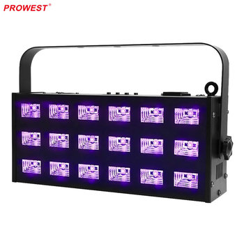18pcs 3W Disco Light Portable UV LED Strobe Bar Stage LED DMX512 UV Lights
