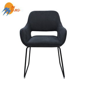 luxury arm fabric restaurant dining chair