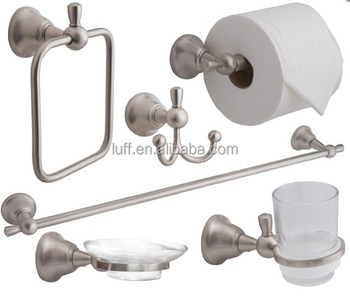 Wallmounted Brushed Nickel Bathroom Accessories Set 6 Pieces Buy