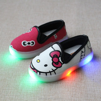 LED lighting children shoes Lovely kids flashing light sneakers kids boys shoes