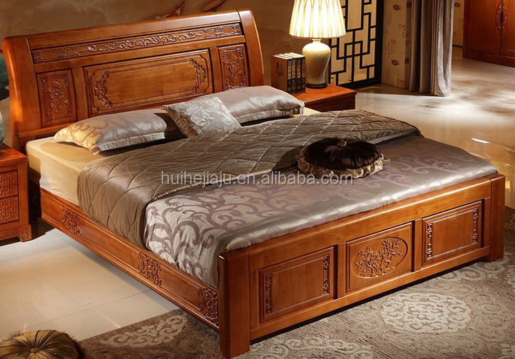 Customized Cot Bed Wood Furniture,Bedroom Furniture Simple Double Bed,Bed  Room Furniture Bedroom