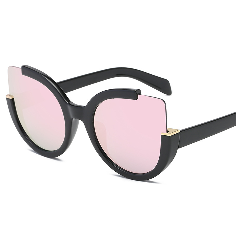 GUVIVI mirror sunglasses hot gradient color ladies sunglasses purple pink hollow cat eye sunglasses