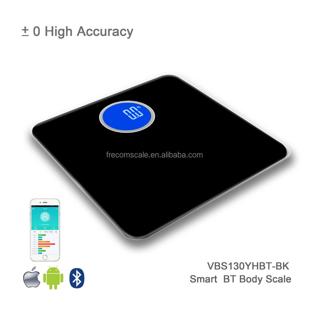 digital bluetooth body scale monitor with rough backlight LCD