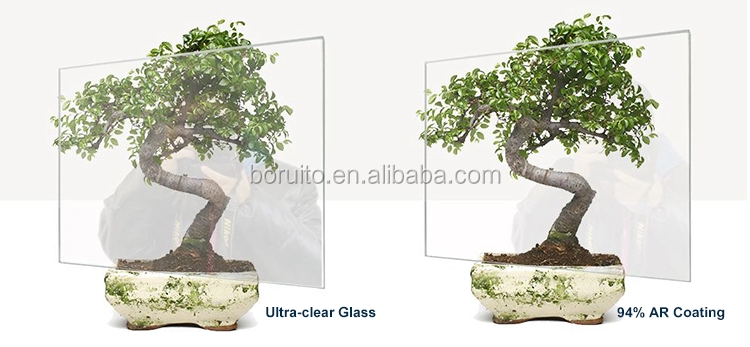 AR anti reflective high transparency glass