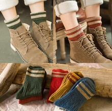 zm21802a thick keep-warm women colorful winter socks