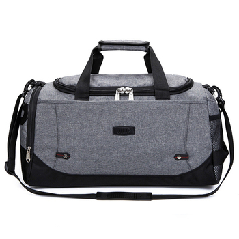 grey convertible business expand two compartment laptop sports duffel bag  with bottle holder ea3b6ac17ae5
