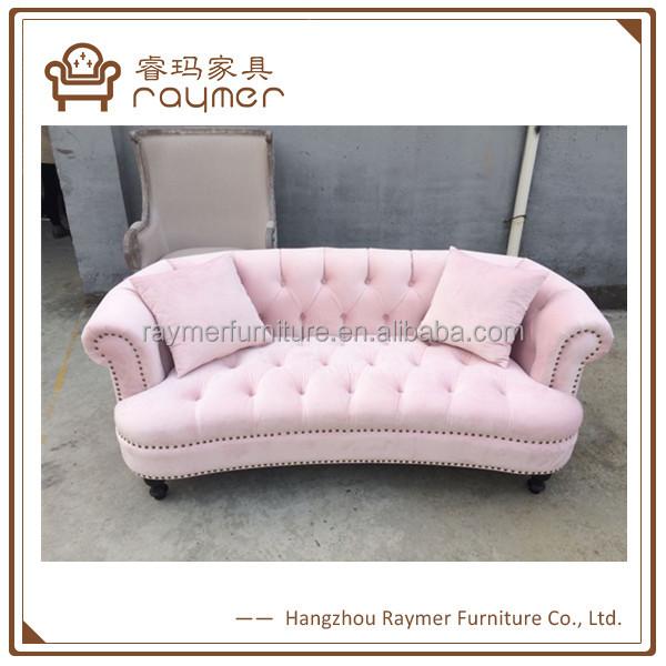 Classic Furniture Design Chesterfield Lovely Pink Velvet Sofa Buy