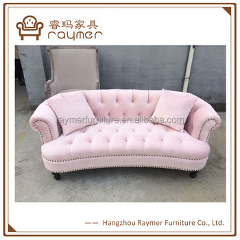 d88719906376a Classic Furniture Design Chesterfield Lovely Pink Velvet Sofa - Buy ...