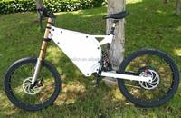 High Performance E-bike 3000w frame, full suspension electric mountian bike frame for 3000w hub motor