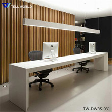 Modern two person smooth & glossy surface long reception desk