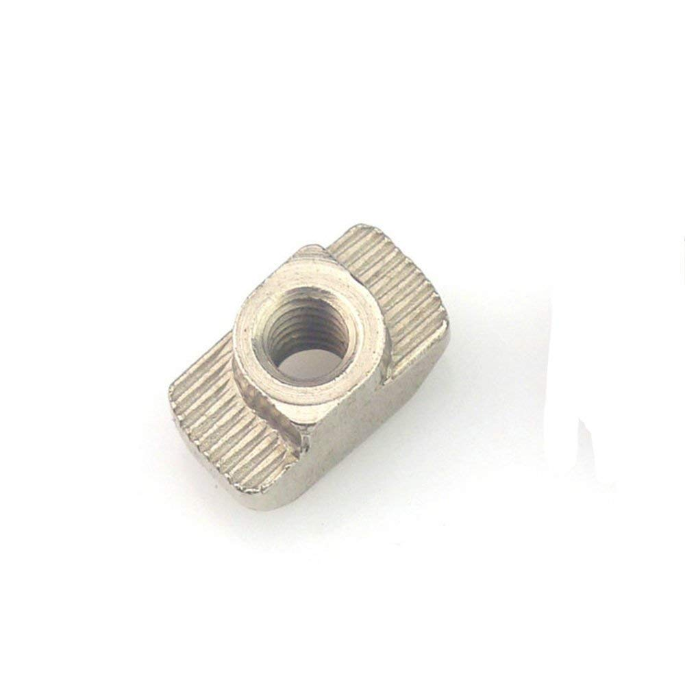 30pcs M6x19x10 for 45 Series Slot T-nut Sliding T Nut Hammer Drop in Nut Fasten Connector 4545 Aluminum Extrusions