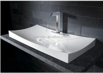 Italy Design Wash Basin Counter Top Wash Basin , New Model Wash Basin,  Solid Surface