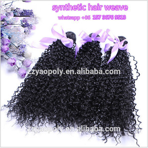 cheap african styles hair bundles afro kinky curly synthetic hair weaving / weft / weave for black women