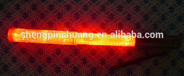 Espansione 50 centimetri della polizia Led traffico allungabile baton con luce superiore per la vendita