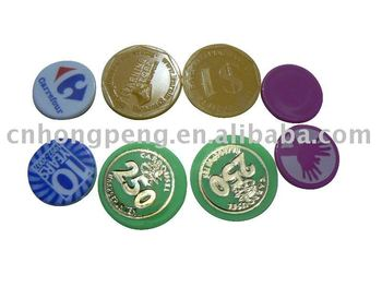 promotional plastic chips/game token