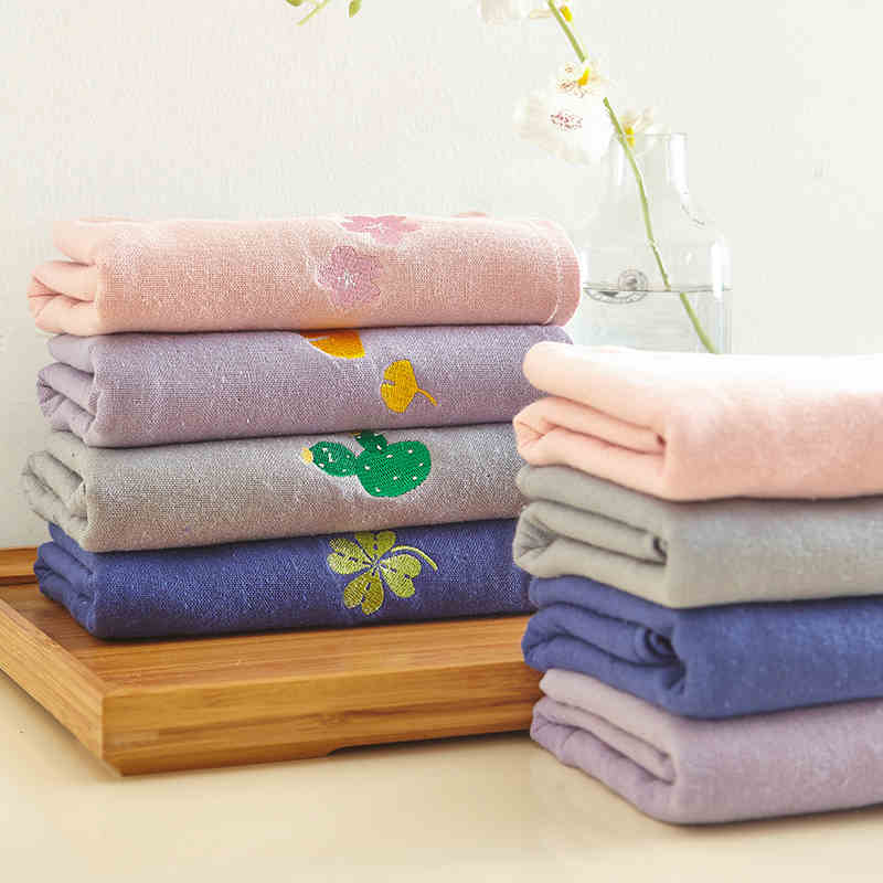 woven baby towel 100% organic cotton embroidered baby towels
