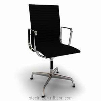 High Back Swivel Office Chair No Wheels