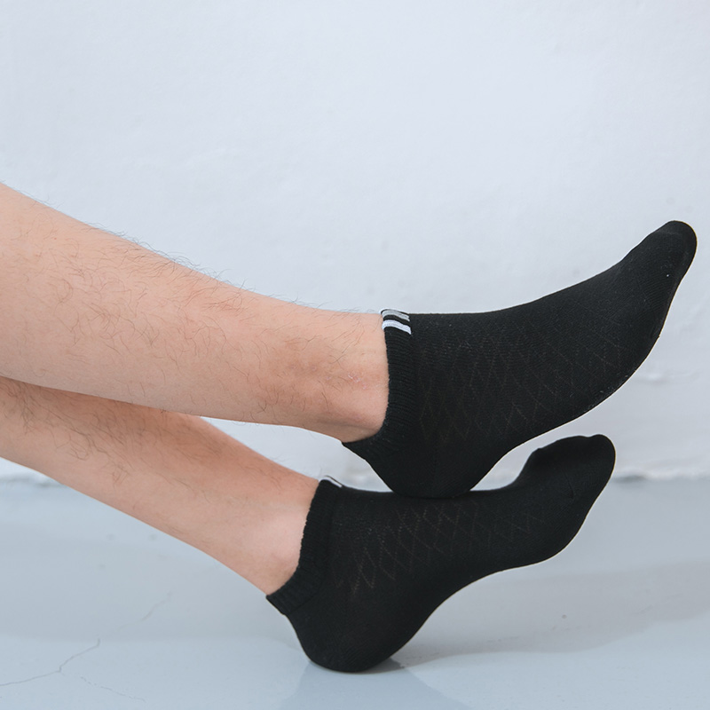 Mens Solid Colour Breathable Soft Cotton Low Cut Short Ankle Socks