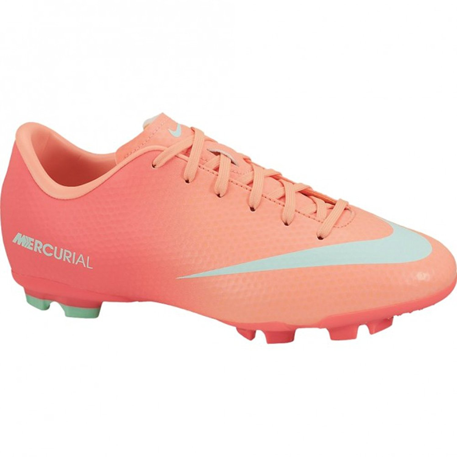 23ba2fde2 Get Quotations · Nike JR Youth Soccer Cleats Mercurial Victory IV FG Soccer  Shoes Pink 553631 (1)