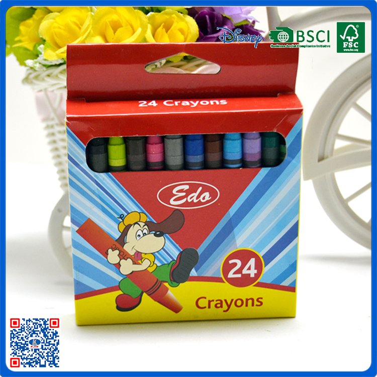 school stationery 24 colors rainbow wax crayon as gift set