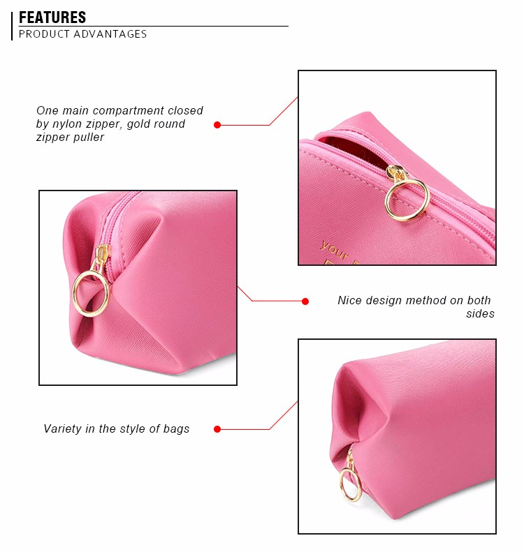 Hot selling good quality personalized PU designer girls zip lock cosmetic bags
