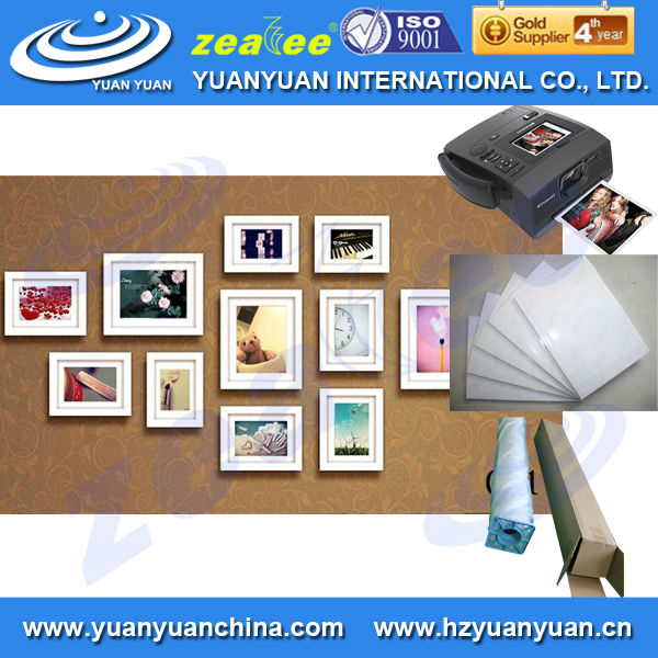 waterproof Premium glossy inkjet photo sticker paper for inkjet printing 160gsm,180gsm,230gsm,240gsm 260gsm