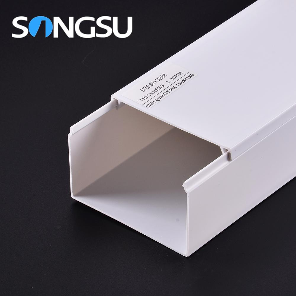 Boa Resistência UV-Extrusão Canal Elétrica PVC Trunking