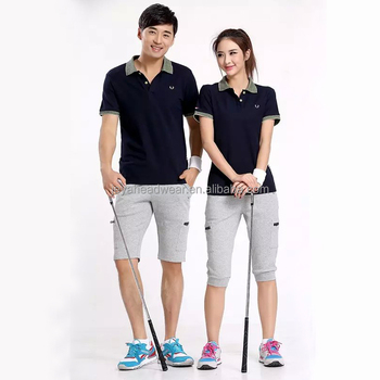 Men and women 39 s office uniform design polo shirt oem for Couple polo shirts online