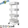 4 Layers Withe Cheap Beauty Salon Trolley With Basket