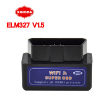 2016 Newest V1.5 Super MINI ELM327 WIFI OBD2 / OBDII ELM 327 Version 1.5 Black Auto Diagnostic Interface Elm327 Scanner