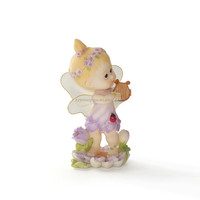 polyresin material decorative music angels