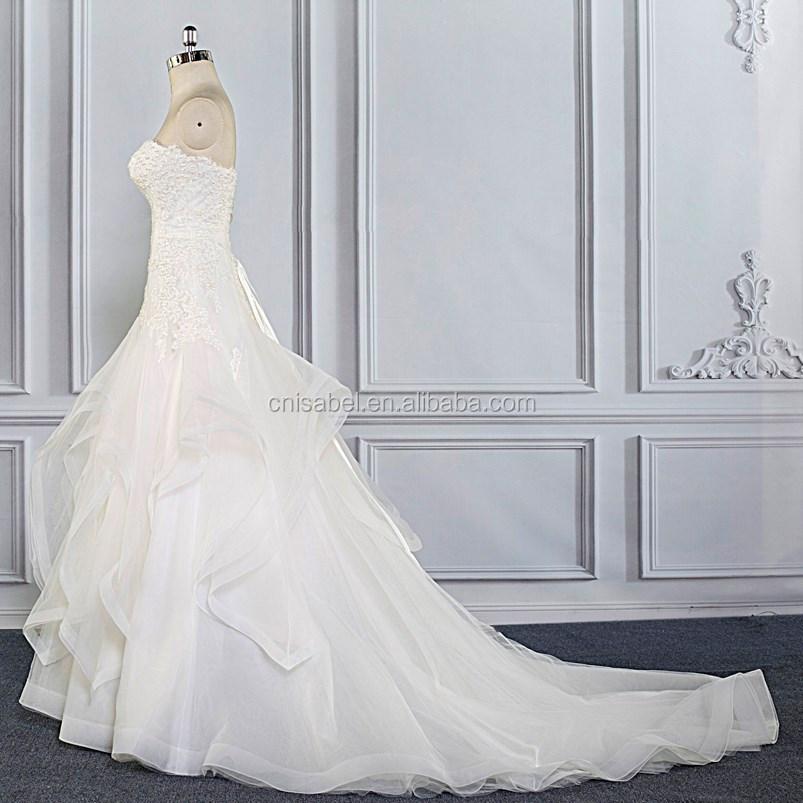 Tw16023 Luxury Mermaid Beaded Fancy White Wholesale Luxury Wedding ...